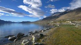Pangong tso Lake, Ladakh, Jammu and Kashmir, India stock video