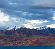 Pangong Tso Lake in Ladakh, North India Stock Image