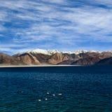 Pangong Tso Lake in Ladakh, North India Royalty Free Stock Image