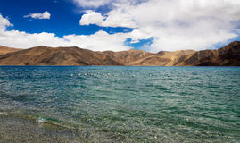 Pangong tso Lake with Mountains in background Royalty Free Stock Image