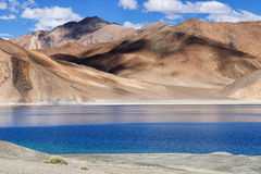 Pangong tso, Leh, Ladakh, Jammu i Kaszmir, India (jezioro) Zdjęcie Stock