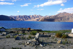 Pangong Tso or Pangong Lake. Royalty Free Stock Photo