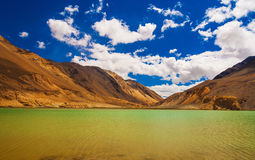 Pangong Tso, piękny Himalajski jezioro, Ladakh, Północny India Zdjęcie Stock