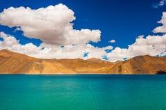 Pangong Tso, piękny Himalajski jezioro, Ladakh, Północny India Fotografia Royalty Free