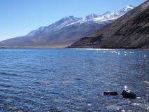 Pangong Tso sjö, en endorheic sjö för hög höjd i Ladakh, tibetan platå Royaltyfri Foto