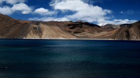 Pangongmeer, Ladakh, India Royalty-vrije Stock Afbeelding