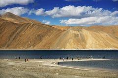 Pangongmeer Leh Ladakh Royalty-vrije Stock Fotografie