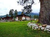 Pangri Zampa, Buddhist Monastery in Thimphu, Bhutan. Pangri Zampa is a Buddhist Monastery in Thimphu, Bhutan. Founded in the early 16th century, this complex is royalty free stock photography