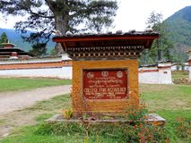 Pangri Zampa, Buddhist Monastery in Thimphu, Bhutan. Pangri Zampa is a Buddhist Monastery in Thimphu, Bhutan. Founded in the early 16th century, this complex is royalty free stock images