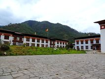 Pangri Zampa, Buddhist Monastery in Thimphu, Bhutan. Pangri Zampa is a Buddhist Monastery in Thimphu, Bhutan. Founded in the early 16th century, this complex is stock image
