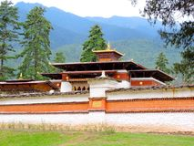 Pangri Zampa, Buddhist Monastery in Thimphu, Bhutan. Pangri Zampa is a Buddhist Monastery in Thimphu, Bhutan. Founded in the early 16th century, this complex is stock photos