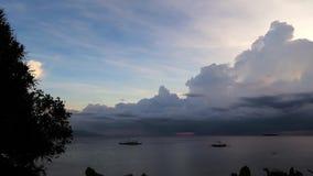 Pangsama Sunset Timelapse. Time lapse video of a sunset at Pangsama Beach, Moalboal, Cebu Island, showing the cloud motion stock footage