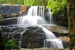 Pangsida Paradise Waterfall Royalty Free Stock Photos