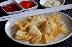 Pangsit goreng mayonaise. Contain shimp Royalty Free Stock Image