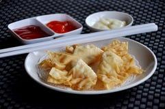 Pangsit goreng mayonaise. Contain shrimp Stock Photography