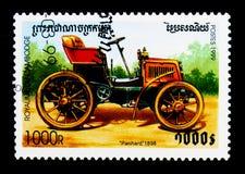 Panhard 1898,葡萄酒汽车serie,大约1999年 免版税图库摄影