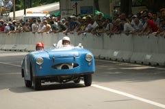 Panhard Barquette Graveleau 850 przy Vernasca srebra flaga 2017 Zdjęcie Stock