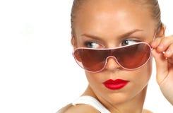 pani 3 okulary przeciwsłoneczne Obraz Royalty Free