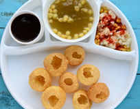 Pani Puri. Also known as golgappa and puchka is a famous snack food all over india royalty free stock photography
