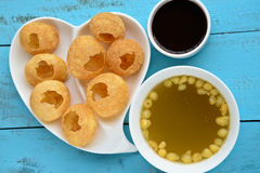 Pani Puri. Also known as golgappa and puchka is a famous snack food all over india stock photo