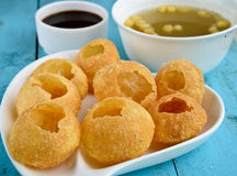 Pani Puri. Also known as golgappa and puchka is a famous snack food all over india stock images