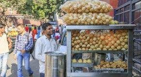 Pani Puri, Delhi image libre de droits