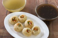 Pani Puri, Golgappe, Chat item, India Stock Images