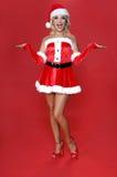 pani Santa wzruszenia ramionami Fotografia Royalty Free
