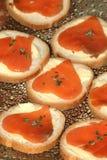Pani tostati ai salmoni Immagine Stock Libera da Diritti