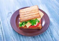 Pani tostati con formaggio Immagine Stock Libera da Diritti