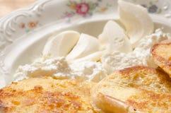 Pani tostati francesi della prima colazione Fotografie Stock