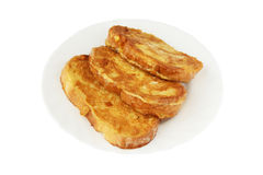 Pani tostati francesi sulla zolla Fotografia Stock