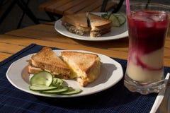 Pani tostati per la prima colazione fotografie stock libere da diritti