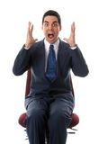 Panic. Man in a big panic on a background Royalty Free Stock Photo