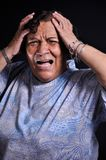 Panic attack. This picture represents a woman with a panic attack expression Stock Photography