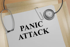Panic Attack - medical concept. 3D illustration of `PANIC ATTACK` title on a medical document Royalty Free Stock Images