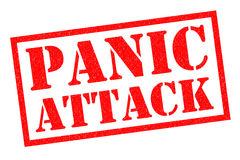 PANIC ATTACK Rubber Stamp Royalty Free Stock Photo