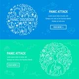 Panic attack symptoms vector royalty free illustration
