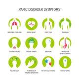 Panic attack symptoms vector vector illustration
