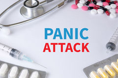 PANIC ATTACK Royalty Free Stock Images