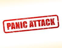 Panic attack text buffered Stock Photography