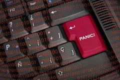Panic in black keyboard Royalty Free Stock Photos