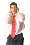 Panic businessman Stock Photography