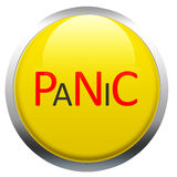 Panic Button. Photoshop drawing of a panic button Royalty Free Stock Photo