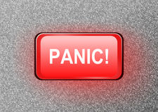 Panic button. Royalty Free Stock Image