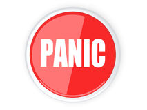 Panic Button. 3D rendered Illustration. A panic button Royalty Free Stock Image