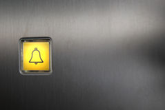 Panic button. Luminescent panic button of an elevator Royalty Free Stock Photos