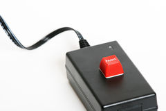 Panic button. On a unknown device Royalty Free Stock Images