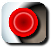 Panic button. Looking from the front or top Royalty Free Stock Images