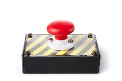 Panic button box isolated on white Royalty Free Stock Images